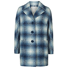 Buy Windsmoor by Paul Costelloe Soho Square Check Coat, Blue Online at johnlewis.com