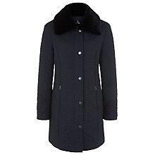 Buy Windsmoor Deco Quilted Coat, Navy Online at johnlewis.com