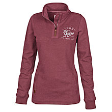 Buy Fat Face Heritage Half Neck Jumper, Garnet Online at johnlewis.com