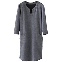Buy Poetry Double Face Jersey Dress, Grey/Blue Online at johnlewis.com