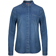 Buy Ted Baker Marysa Chambray Denim Shirt, Mid Wash Online at johnlewis.com