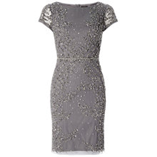 Buy Adrianna Papell Beaded Cocktail Dress, Sterling Online at johnlewis.com