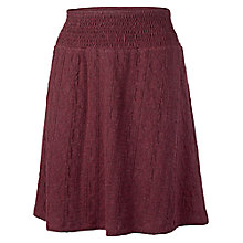 Buy Fat Face Jacquard Cable Jersey Skirt, Garnet Online at johnlewis.com