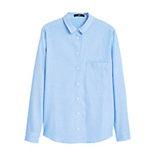 Buy Mango Chest Pocket Cotton Shirt, Pastel Blue Online at johnlewis.com