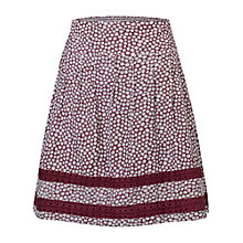 Buy Fat Face Matilda Ditsy Flower Skirt, Garnet Online at johnlewis.com