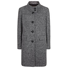 Buy Windsmoor Textured Funnel Neck Coat, Grey Online at johnlewis.com