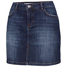 Buy Fat Face Denim Mini Skirt, Blue Online at johnlewis.com
