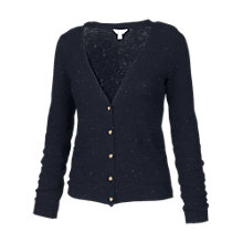 Buy Fat Face Dunsfold Flecked Cardigan, Blue Online at johnlewis.com