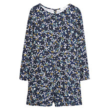 Buy Mango Printed Short Jumpsuit, Navy Online at johnlewis.com