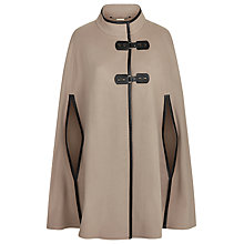 Buy Windsmoor Leatherette Trim Cape, Neutral Online at johnlewis.com