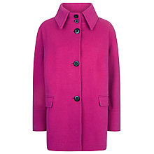Buy Windsmoor Wool Collar Coat, Fuchsia Online at johnlewis.com