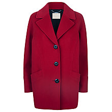Buy Windsmoor Cocoon Wool Coat, Red Online at johnlewis.com