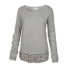 Buy Fat Face Woven Knit Mix Jumper, Grey Online at johnlewis.com