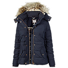 Buy Fat Face Pointon Short Puffer, Blue Online at johnlewis.com