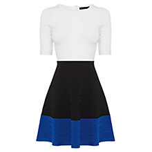 Buy Karen Millen Colour Block Knit Dress, Black/Multi Online at johnlewis.com