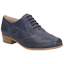 Buy Clarks Hamble Oak Leather Brogues, Navy Online at johnlewis.com