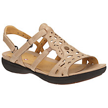 Buy Clarks Un Valencia Leather Sandals Online at johnlewis.com
