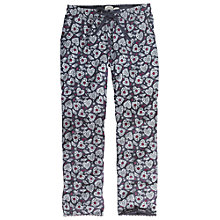 Buy Fat Face Folk Bird Jersey Trousers, Twilight Online at johnlewis.com