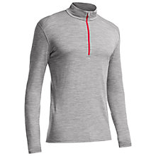 Buy Icebreaker Oasis Long Sleeve 1/2 Zip Base Layer, Grey Online at johnlewis.com