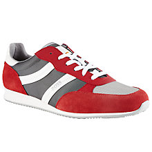 Buy BOSS Orange Oryl Trainers, Red Online at johnlewis.com