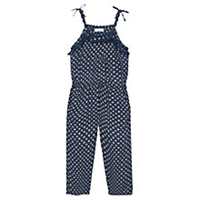 Buy Mango Kids Girls' Print Tassel Jumpsuit, Navy Online at johnlewis.com
