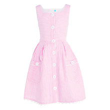 Buy John Lewis Girls' Button Through Dress, Red Online at johnlewis.com