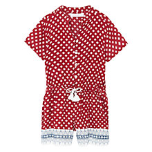 Buy Mango Kids Girls' Tassel Printed Playsuit, Red Online at johnlewis.com