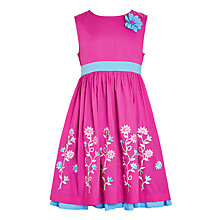 Buy John Lewis Girls' Embroidered Prom Dress, Pink Online at johnlewis.com