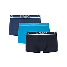 Buy Emporio Armani Eagle Logo Trunks, Pack of 3 Online at johnlewis.com