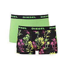 Buy Diesel Shawn Palm Tree Trunks, Pack of 2, Green/Black Online at johnlewis.com