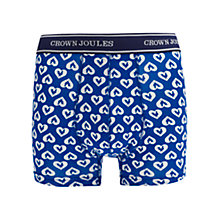 Buy Joules Crown Joules Cockerel Trunks, Blue Online at johnlewis.com