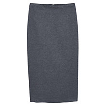 Buy Mango Herringbone Pencil Skirt, Dark Grey Online at johnlewis.com