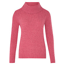 Buy Viyella Cable Cowl Neck Jumper, Rose Online at johnlewis.com