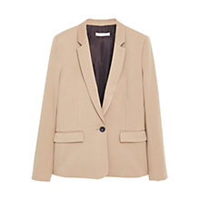 Buy Mango Essential Blazer, Medium Brown Online at johnlewis.com