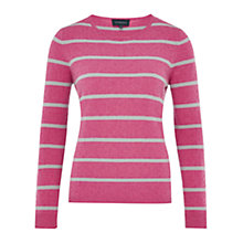 Buy Viyella Bobble Stripe Jumper, Rose Online at johnlewis.com