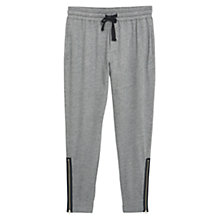 Buy Mango Zip Jogging Trousers, Pastel Grey Online at johnlewis.com