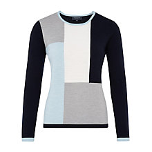 Buy Viyella Petite Pure Merino Jumper, Navy Online at johnlewis.com