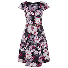 Buy Kaliko Shadow Leaf Ottomon Dress, Multi/Pink Online at johnlewis.com