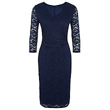 Buy Kaliko Twist Waist Lace Shift Dress, Navy Online at johnlewis.com