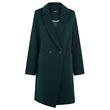 Buy Oasis Alex Seamed Double Breasted Coat, Deep Green Online at johnlewis.com