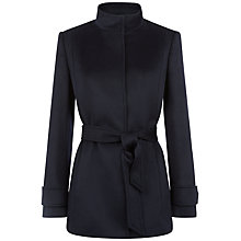 Buy Jaeger Funnel Neck Wool Coat, Midnight Online at johnlewis.com