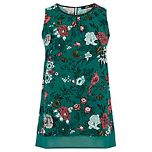 Buy Oasis Chatsworth Shell Top, Green Online at johnlewis.com