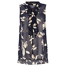 Buy Oasis Bold Kimono Style Pussy Bow Blouse, Multi/Blue Online at johnlewis.com