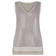 Buy Oasis Foil Texture Vest, Mid Grey Online at johnlewis.com
