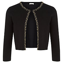 Buy Kaliko Embellished Trim Shrug, Black Online at johnlewis.com