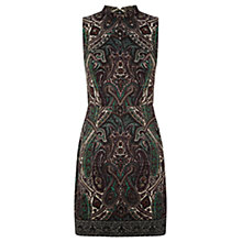 Buy Oasis Paisley Print Border Dress, Mid Green Online at johnlewis.com