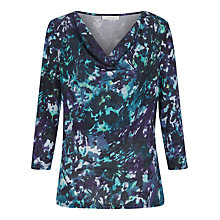 Buy Kaliko Autumnal Leaf Emma Top, Multi/Purple Online at johnlewis.com