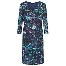 Buy Kaliko Autumnal Leaf Printed Dress, Multi/Purple Online at johnlewis.com