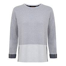 Buy Jaeger Double Faced Merino Sweatshirt, Grey Melange Online at johnlewis.com
