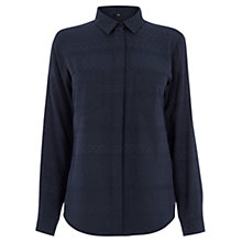 Buy Oasis Textured Viscose Shirt, Navy Online at johnlewis.com